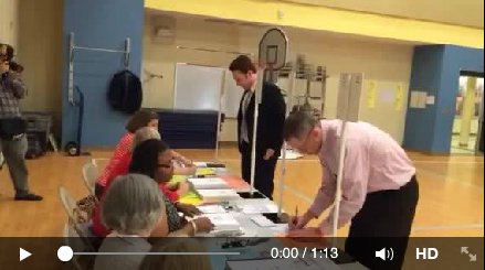 Clay votes in Cary